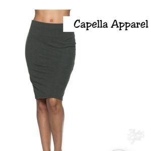 17b46b81db4 Capella Apparel Olive Pencil Skirt! Brand New!